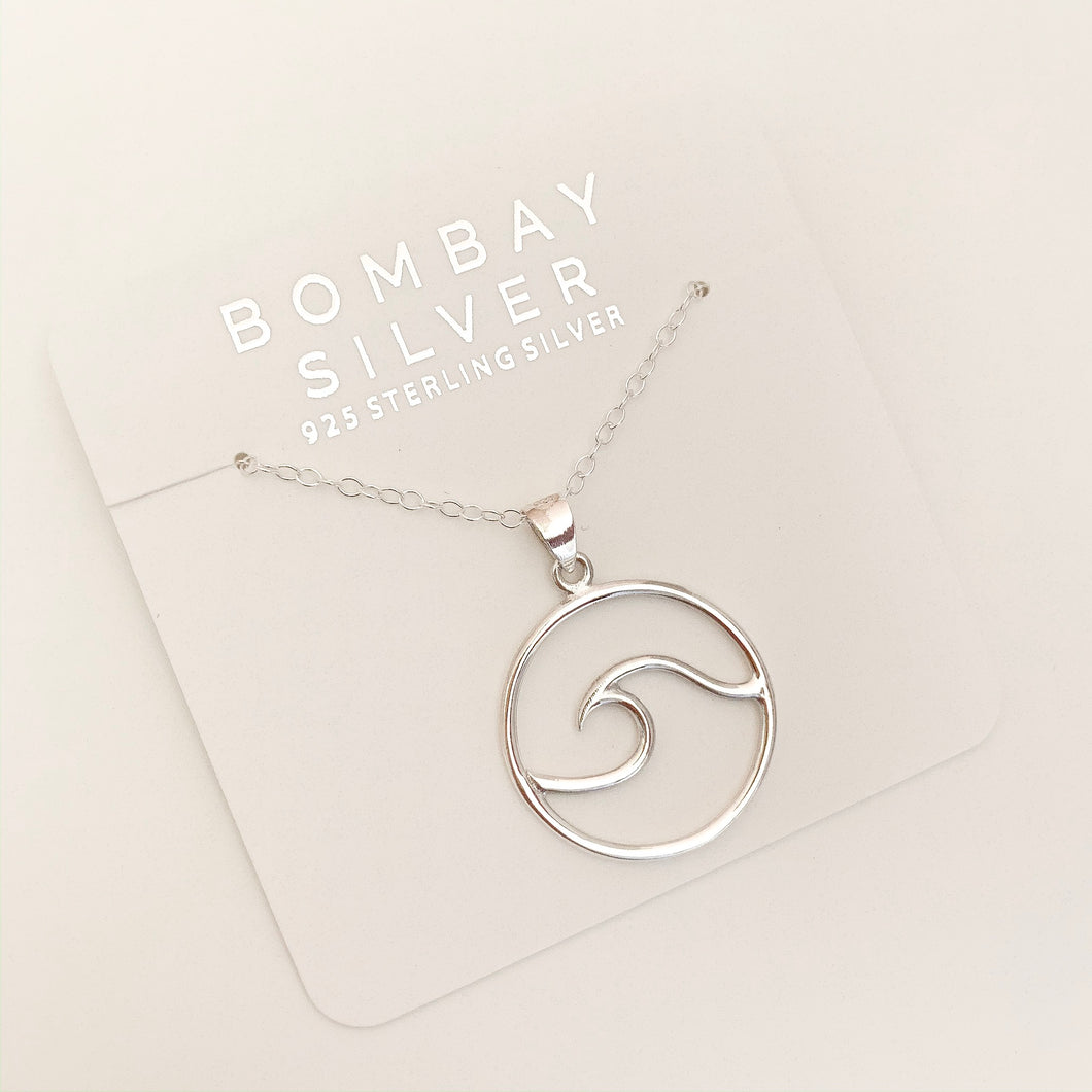 Bombay Silver Wave Necklace