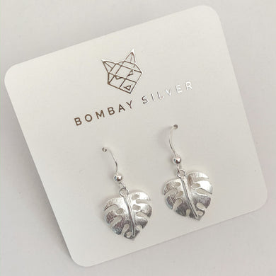 Bombay Silver Monstera Dangles