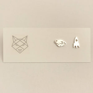 Bombay Silver Space Studs