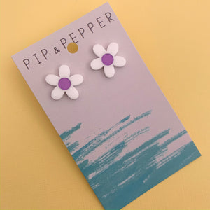 Daisy Studs (purple)