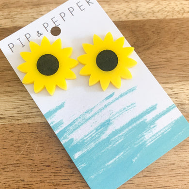 Sunflower Statement Studs
