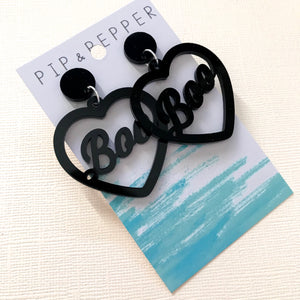 Boo Heart Dangles (Black)