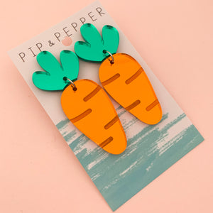 Carrot Dangles (Mirror acrylic)