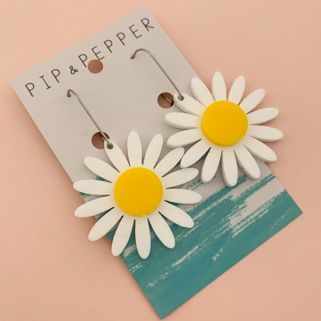 Gerbera Dangles (White/Yellow)
