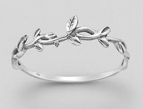 Bombay Silver Twig Ring