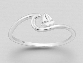Bombay Silver Sailboat Ring