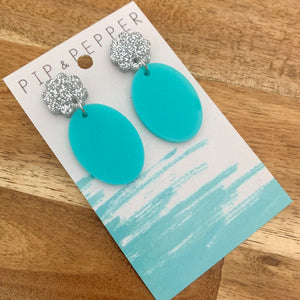 Peppy Drop Dangles (Teal)