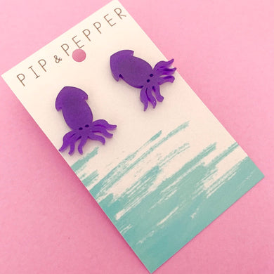 Squid Statement Studs (Purple)