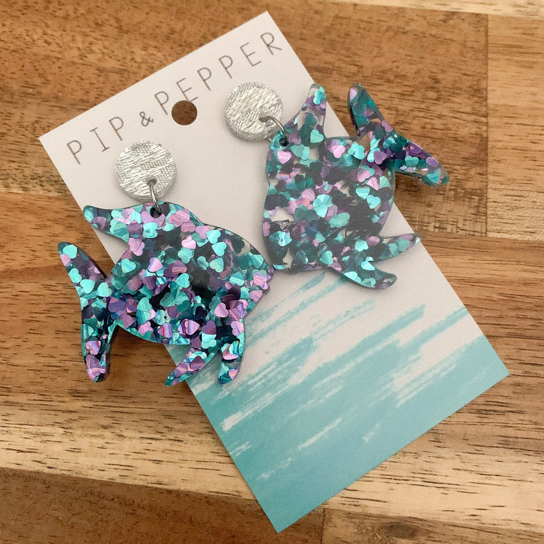 Rainbow Fish Dangles