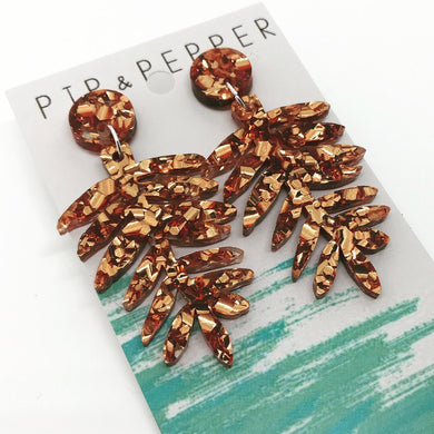 Copper Fern Dangles