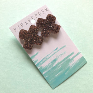Crosses Statement Studs