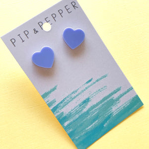 Candy heart studs (Violet)