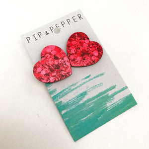 Dorothy's Hearts Statement Studs