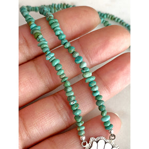 Turquoise Pebble Necklace necklace