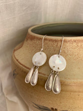 MOP Coin and Double Drop Earrings