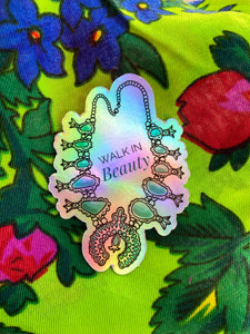 Small Holographic Squash Blossom Sticker