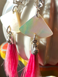 Herkimer, Mother of Pearl and horse hair Tassels