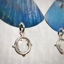 Textured, Crystal Quartz and Mother of Pearl Earrings