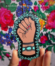 Resist, Reclaim & Inspire - Turquoise & White Nails