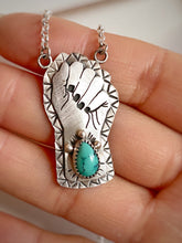 Sterling Silver & Turquoise Resist Pendant