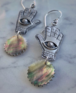 Mound Builder Hand Statement Earrings