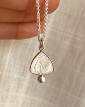 "Carved Mother of Pearl ""Be a Leader"" Pendant"