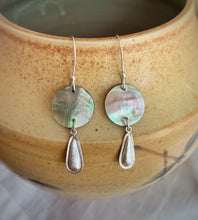 MOP Coin and Drop Earrings