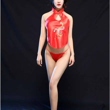Women Sexy Lingerie Embroidery Phoenix Costume Suit Babydoll Pajamas