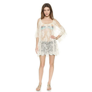 Women Cover up Crochet Swimwear Lace Dress Lady Bathing Swimsuits Sexy Hollow Out Beach suit for female