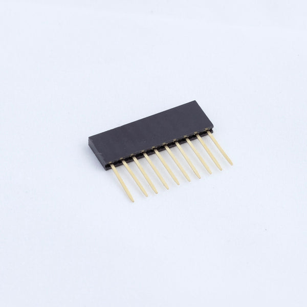 Pin header 2.54mm 1x10 female stackable 11mm pin