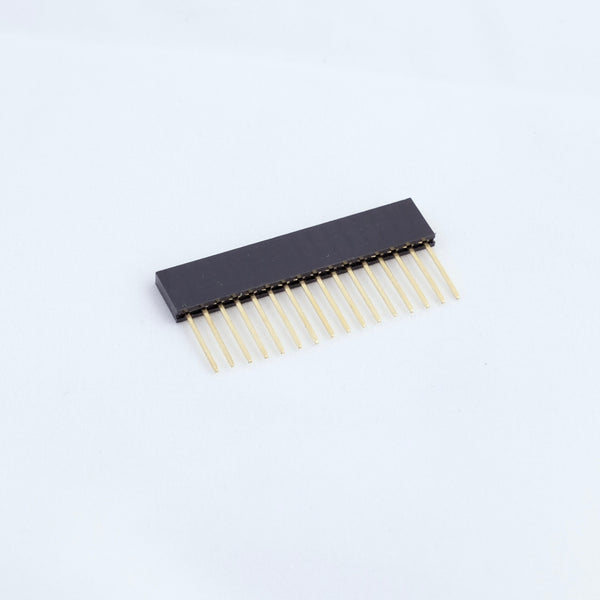 Pin header 2.54mm 1x16 female stackable 11mm pin