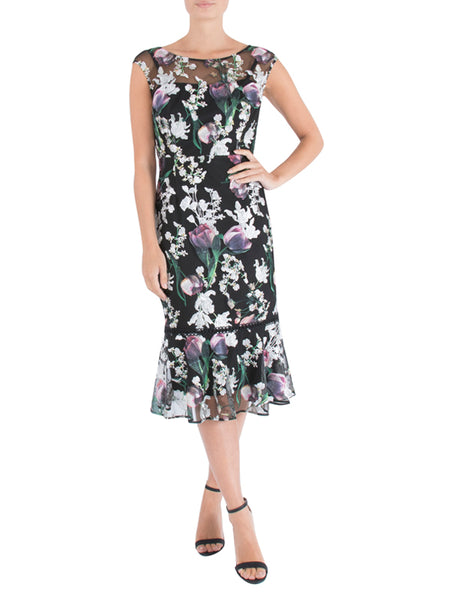 Tulip Embroidered Midi Dress