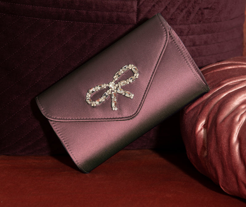 Rose Satin Clutch