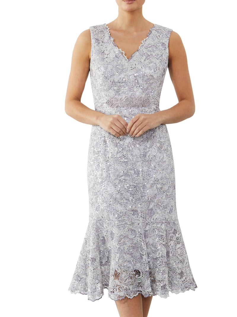Orchid Sequin Lace Dress