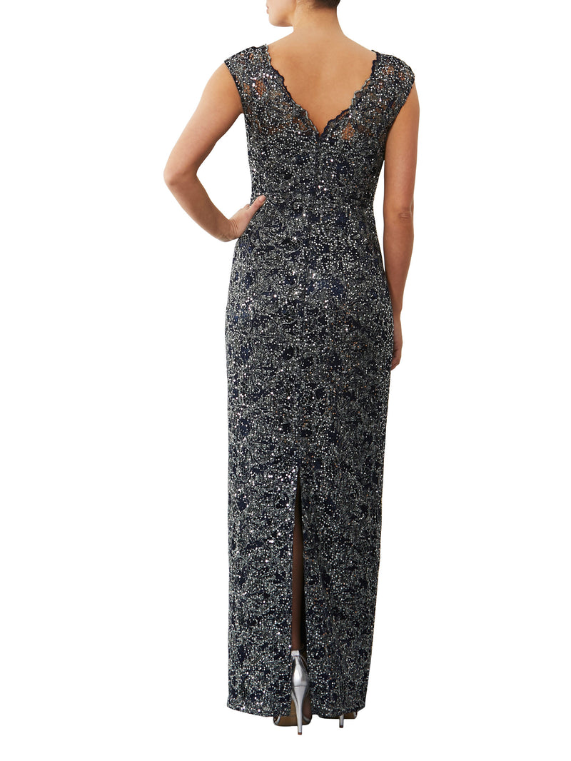 Midnight Sequin Gown