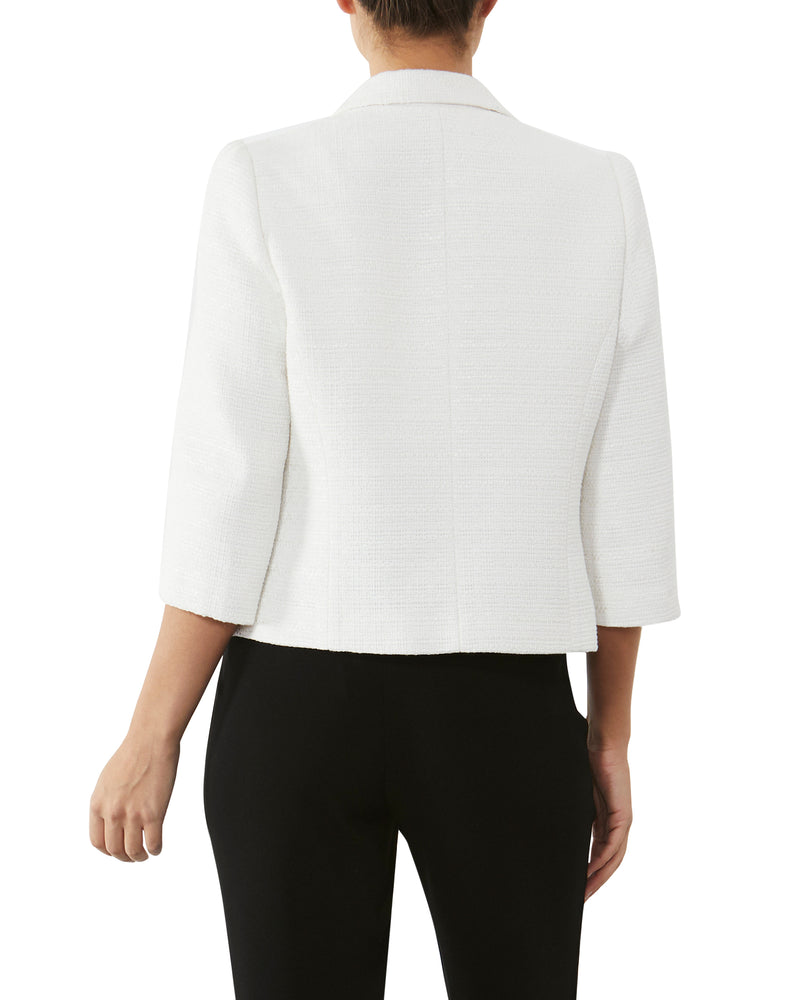 Ivory Cropped Tweed Jacket