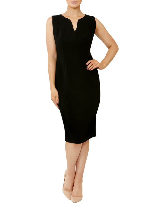 Black Crepe Shift Dress