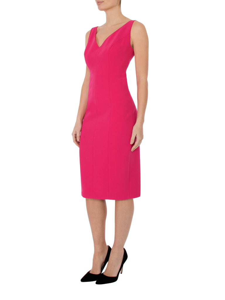 Carnation Crepe Dress
