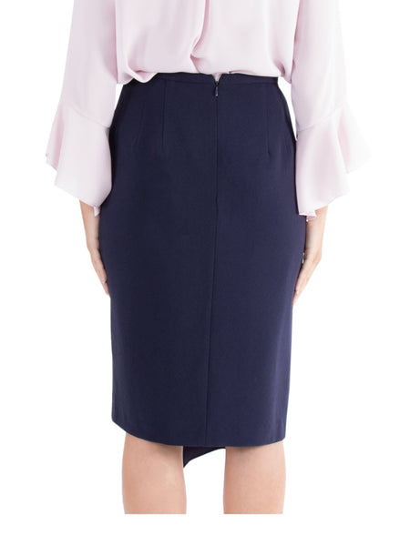 Navy Cascade Skirt