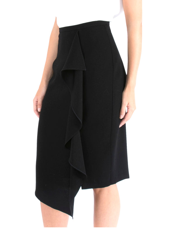 Black Cascade Skirt