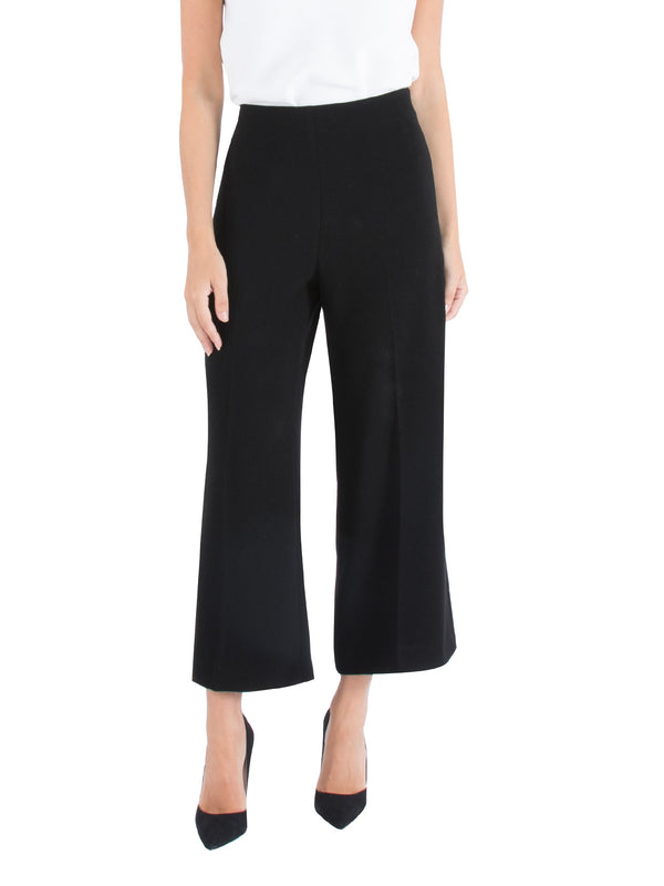 Black Wide Leg Cropped Pant