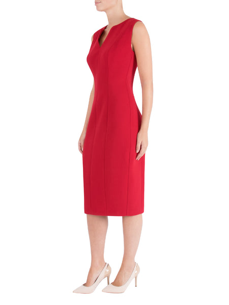 Fire Crepe Shift Dress