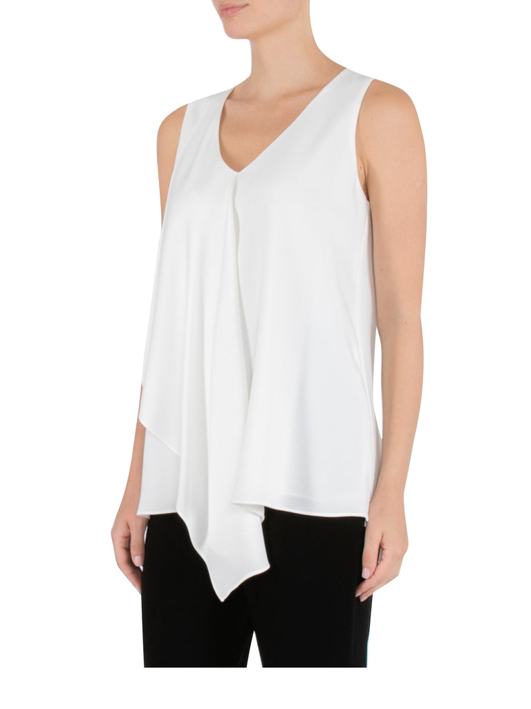 Ivory Draped Front Top