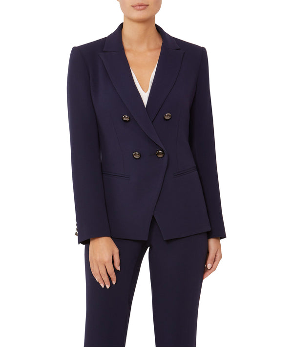 Navy Double-Breasted Jacket