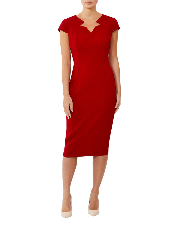 Red Cap Sleeve Dress