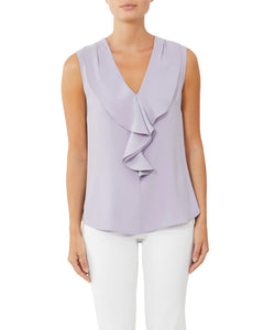 Mist Ruffle Front Top