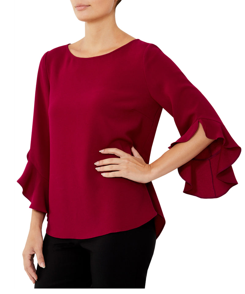 Cyclamen Ruffle Top