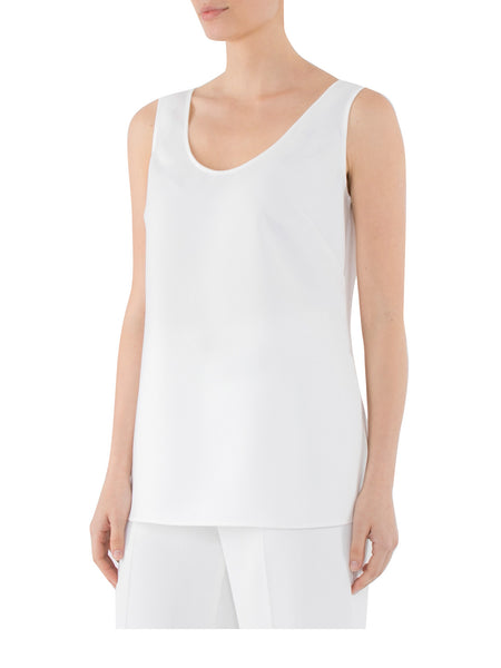 Ivory Crepe Cami