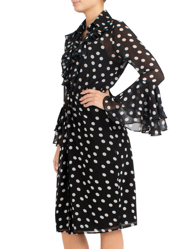 Chiffon Spot Dress