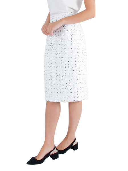 Ivory Tweed Skirt